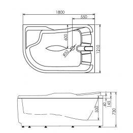Акриловая ванна Gemy G9083 K R