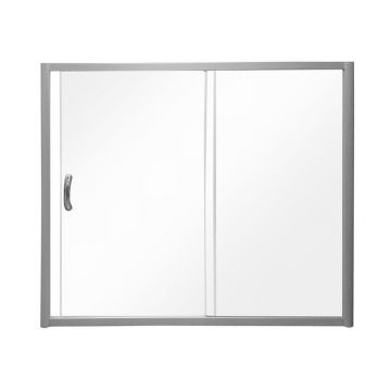 W53S-1501150MT BLISS L Шторка на борт ванны 150x150,с одной дверью,профиль мат. хром, стекло прозрач