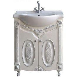 Тумба Атолл Наполеон 75 белый жемчуг/патина серебро