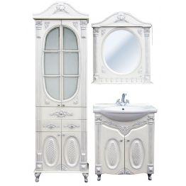 Зеркало Атолл Наполеон 85 белый жемчуг/патина золото
