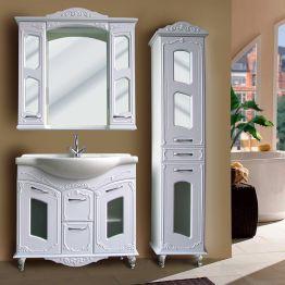 Зеркальный шкаф Атолл Мастер и Маргарита 97 белый