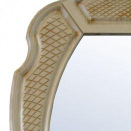 Зеркало Атолл Тулуза 80 ясень жемчужный/патина золото