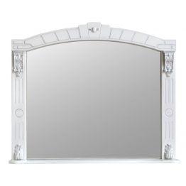 Зеркало Атолл Александрия 100 слоновая кость/патина серебро