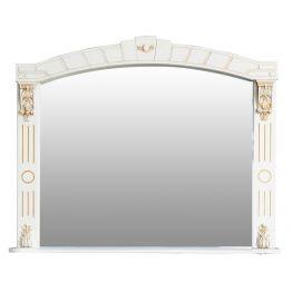 Зеркало Атолл Александрия 100 слоновая кость/патина золото
