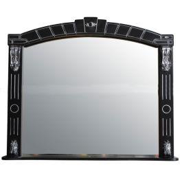Зеркало Атолл Александрия 100 черный/патина серебро
