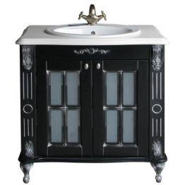 Тумба Атолл Александрия 85К (Vidima) черный/патина серебро