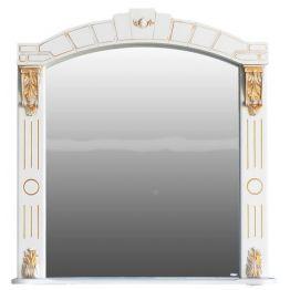 Зеркало Атолл Александрия 85 слоновая кость/патина золото