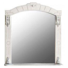 Зеркало Атолл Александрия 85 слоновая кость/патина серебро