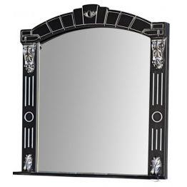 Зеркало Атолл Александрия 85 черный/патина серебро