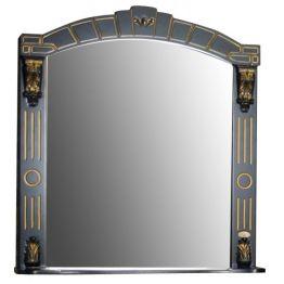 Зеркало Атолл Александрия 85 черный/патина золото