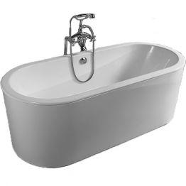 Чугунная ванна Sharking SW-1013B 170x75 (с белой декоративной панелью)