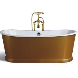 Чугунная ванна Sharking SW-1012A 170x75 (с декоративной панелью в золоте)