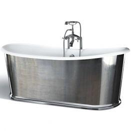 Чугунная ванна Sharking SW-1010B 183x78 (с глянцевой декоративной панелью)
