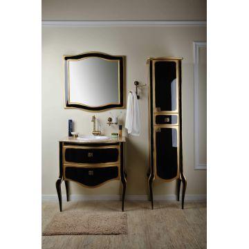 Комплект мебели Timo Ellen 80 M-V черный с зололотом